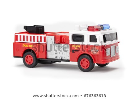 Zabawki wóz strażacki dziecko tle ciężarówka niebieski Zdjęcia stock © photography33