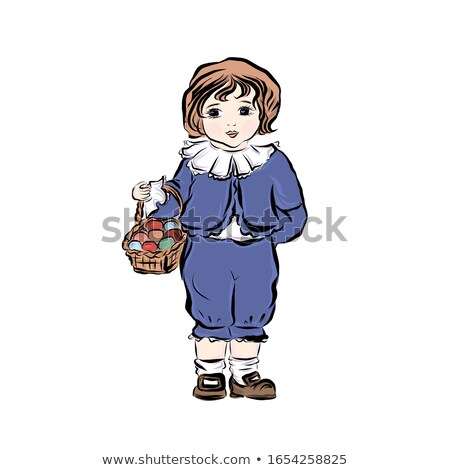 boy holding a basket of clothes stock photo © lovleah