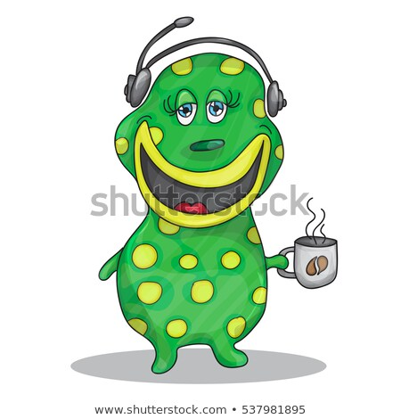 Vicces szörny támogatás rajzfilmfigura izolált szürke Stock fotó © RAStudio
