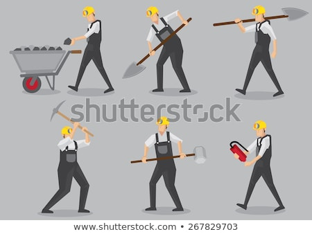Labourer carrying a mallet Stock photo © photography33