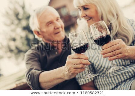 sevmek · çift · içme · şampanya · ev · kanepe - stok fotoğraf © photography33