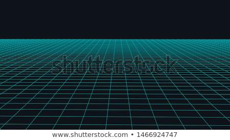 グリッド · 方向 · 抽象的な · 青 · 図示した · 飛行 - ストックフォト © fixer00