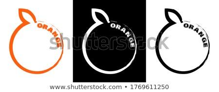 Photo stock: Résumé · vecteur · fruits · orange · design · fruits · santé