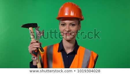 portrait of electrician holding adjustable spanner Stock photo © photography33