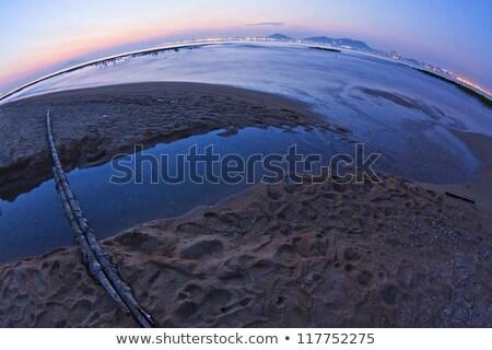 Fisheye Sonnenuntergang Küste Hongkong China Wasser Stock foto © kawing921