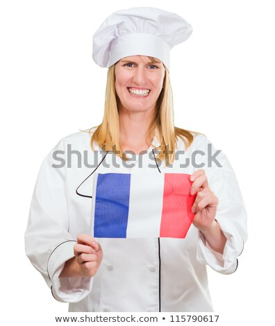 Cook holding French flag Stock photo © photography33