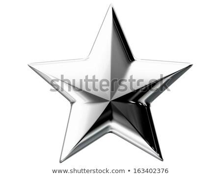 Silber Sternen grau abstrakten Stock foto © marinini