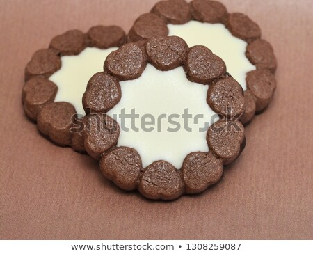 Marmelade filled christmas cookies (shallow DOF) Stock photo © haraldmuc