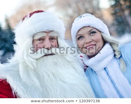 Beautiful girl with Santa Claus gift sack Stock photo © bogumil