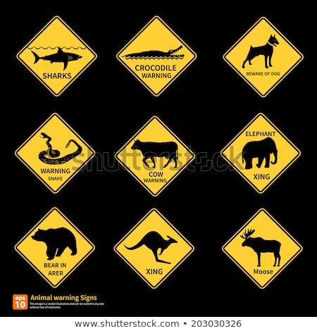Isolated Snake warning sign Australia Stock photo © roboriginal