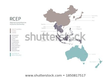 Austrália Brunei mundo australiano bandeira Foto stock © ruskpp