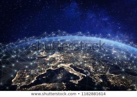 europe global world in space stock photo © fenton