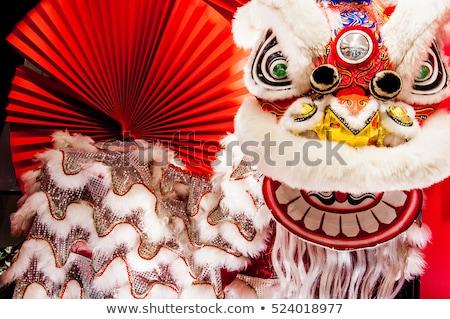 Oroszlán tánc kép előad kínai új év égbolt Stock fotó © Ronen