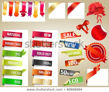 different percentages off discount in red hearts banners Stock photo © marinini