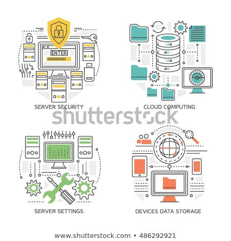 optimalisatie · configuratie · wolk · server · business · computer - stockfoto © oblachko