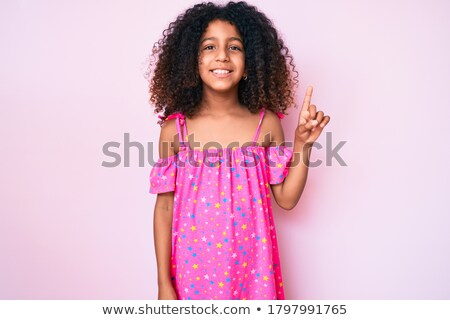 childs hand showing number one pointing finger stock photo © len44ik