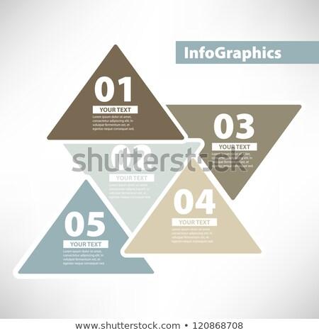 Négy vektor papír haladás kártyák hely Stock fotó © vitek38