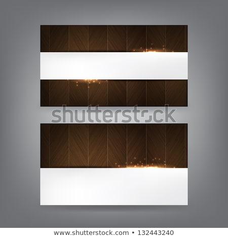 Drewna wizytówkę szablon streszczenie ramki Zdjęcia stock © maxmitzu