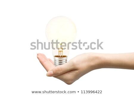 Világítás villanykörte fehér egy zöld fekete Stock fotó © Quka