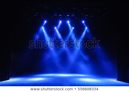 Zdjęcia stock: Blue Stage Lights At The Concert