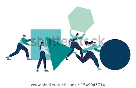 People arrange box.(Teamwork concept) 	 Stock photo © 4designersart