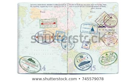 pasaport · pulları · görmek · iyi · kullanılmış - stok fotoğraf © jkraft5