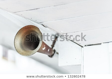 Old metal horn on ship as means of warning. Stock photo © kyolshin