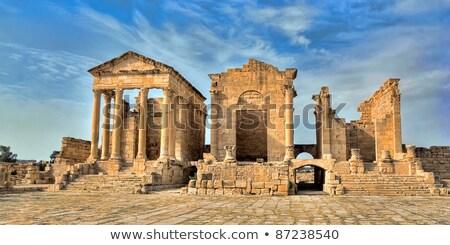 римской руин Тунис здании каменные облаке Сток-фото © TanArt