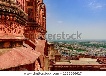 Stock fotó: öreg · erőd · India · város · fegyver · utazás
