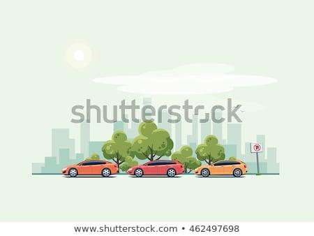 Yeşil araba sedan yol spor model Stok fotoğraf © leonido