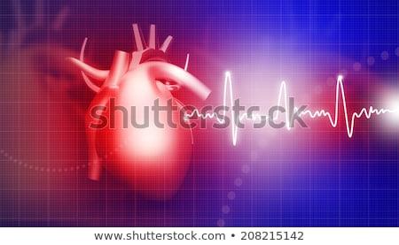 emberi · szív · absztrakt · orvosi · hátterek · terv - stock fotó © tolokonov
