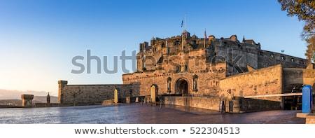 Эдинбург · Шотландии · часы · башни · холме · сумерки - Сток-фото © claudiodivizia