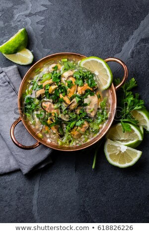 musselclam and shrimp soup stock photo © m-studio