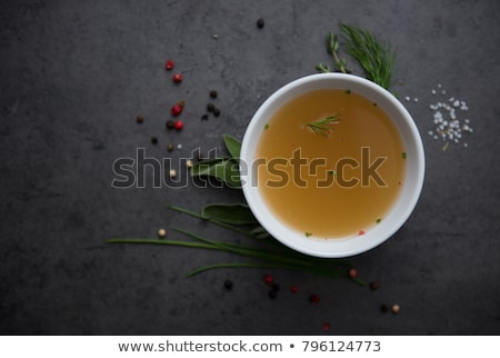 Beef broth and vegetables Stock photo © MKucova