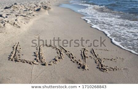 Quadro coração costa mar báltico praia água Foto stock © Hochwander