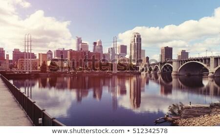 şehir merkezinde Minnesota sabah ünlü taş kemer Stok fotoğraf © AndreyKr