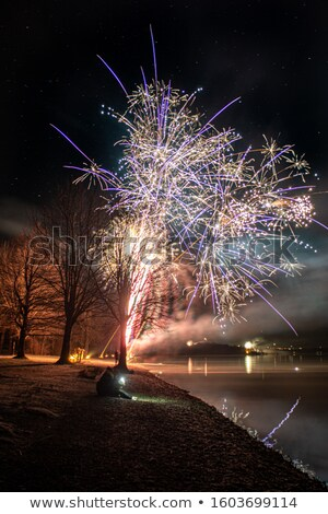 Lago noche imagen agua viaje relajarse Foto stock © magann