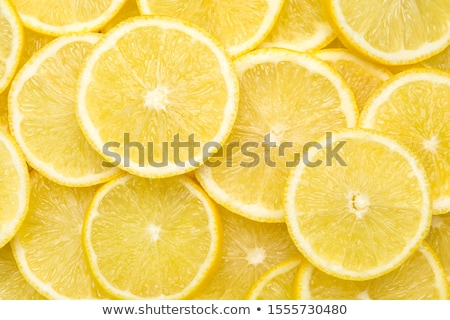 abstract background with citrus fruit of lemon slices close up stock photo © oly5
