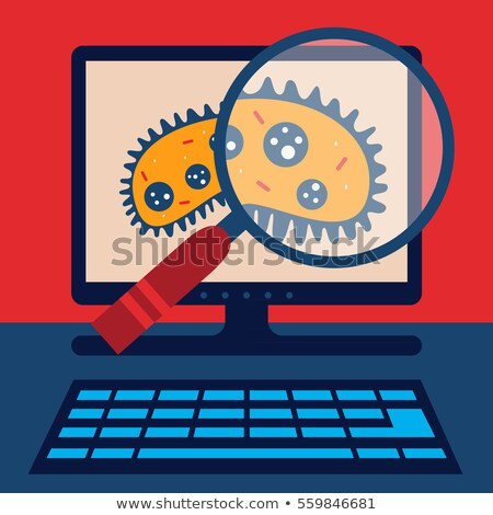 computador · segredos · holofote · vermelho · escuro · internet - foto stock © 3mc