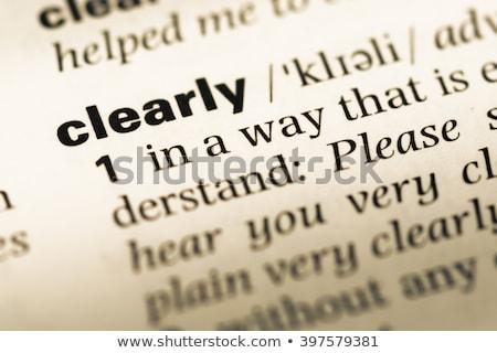 Nyelv szótár meghatározás szó puha fókusz Stock fotó © chris2766