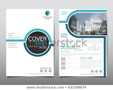Modèle brochure vecteur nuages affaires fond Photo stock © alescaron_rascar
