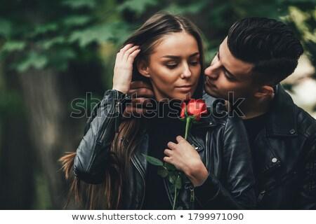fiatal · pér · csók · boldog · szép · idő · nő - stock fotó © DNF-Style