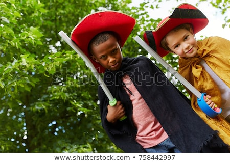 Stock photo: Young Boy Dressed Like a knight
