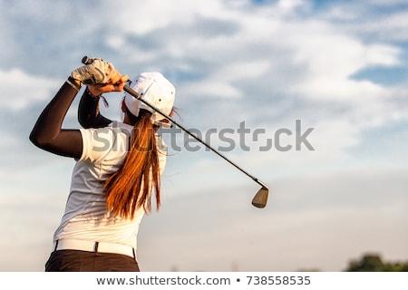 женщину · гольфист · выстрел · области · спорт · зеленый - Сток-фото © vanessavr