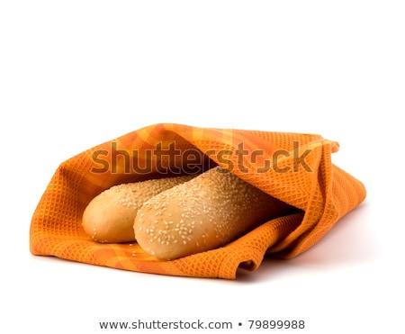 friss · sült · konyha · törölköző · űr · kenyér - stock fotó © natika