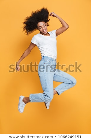 Teljes alakos portré karcsú lány csinos ujjatlan Stock fotó © stockyimages