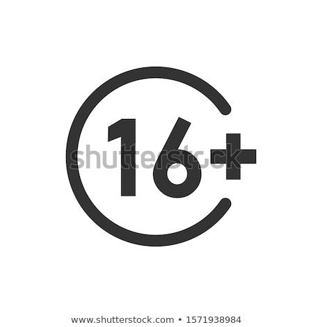 vector · zestien · icon · Blauw · witte · ontwerp - stockfoto © nickylarson974