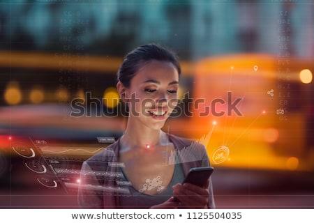 Emberek jövő csinos nő kozmikus lány divat Stock fotó © HASLOO