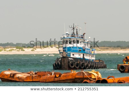 construction ships in oregon inlet outer banks Stock photo © alex_grichenko
