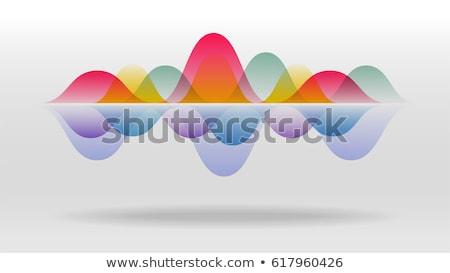 Ses ekolayzer ritim müzik radyo mavi Stok fotoğraf © OlgaYakovenko